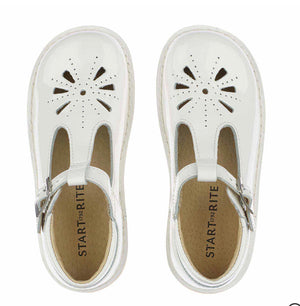 Startrite Lottie White Patent Girls Shoes