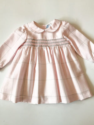 pardon-girls-pink-check-smocked-dress