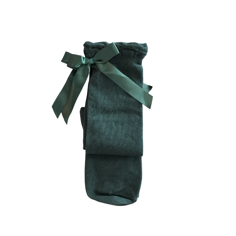 pex emerald green ribbon socks
