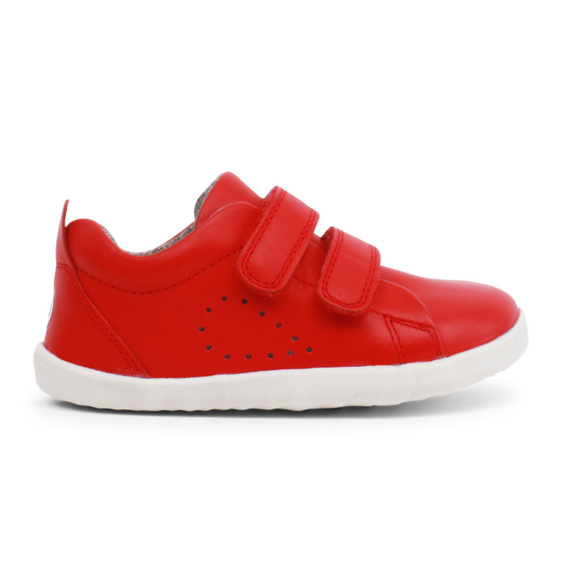 bobux grass court red trainers