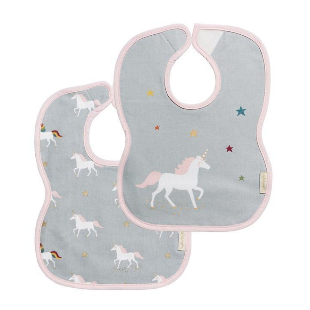 sophie allport unicorn girls bib set