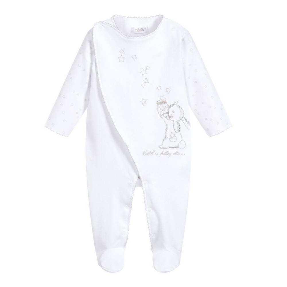 sofija-white-cotton-babygrow-rabbit-stars-design