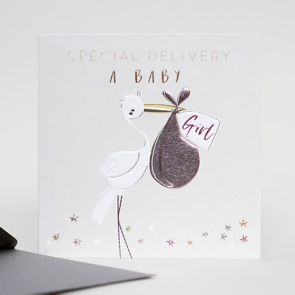 Special Delivery New Baby Girl Card