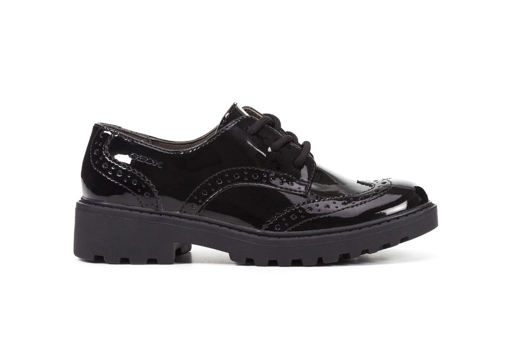 GEOX GIRLS BROGUE SCHOOL SHOES