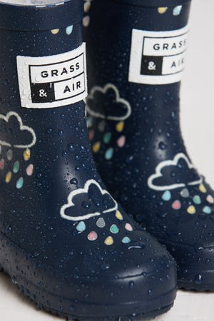 Grass & Air Wellies Navy