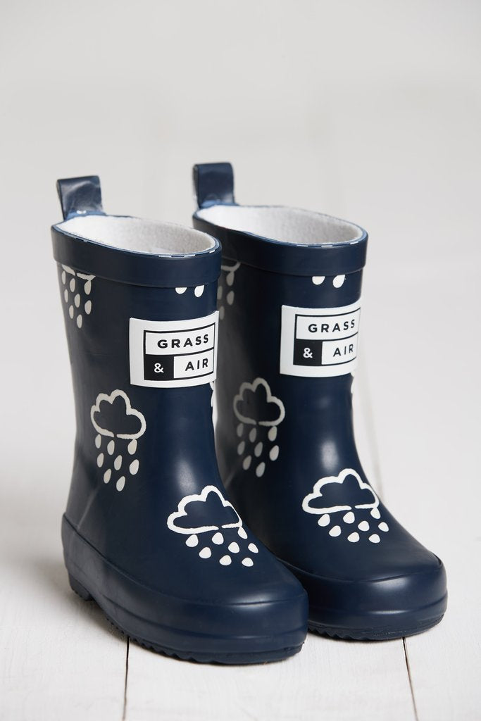 grass and air wellies navy
