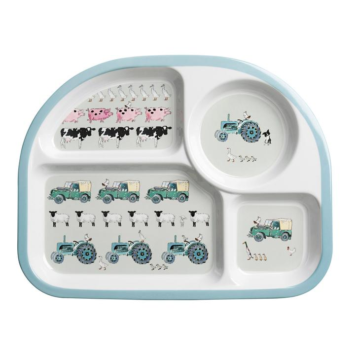 sophie allport on the farm divider plate