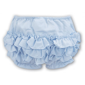 Sarah Louise Pale Blue Ruffle Baby Knickers