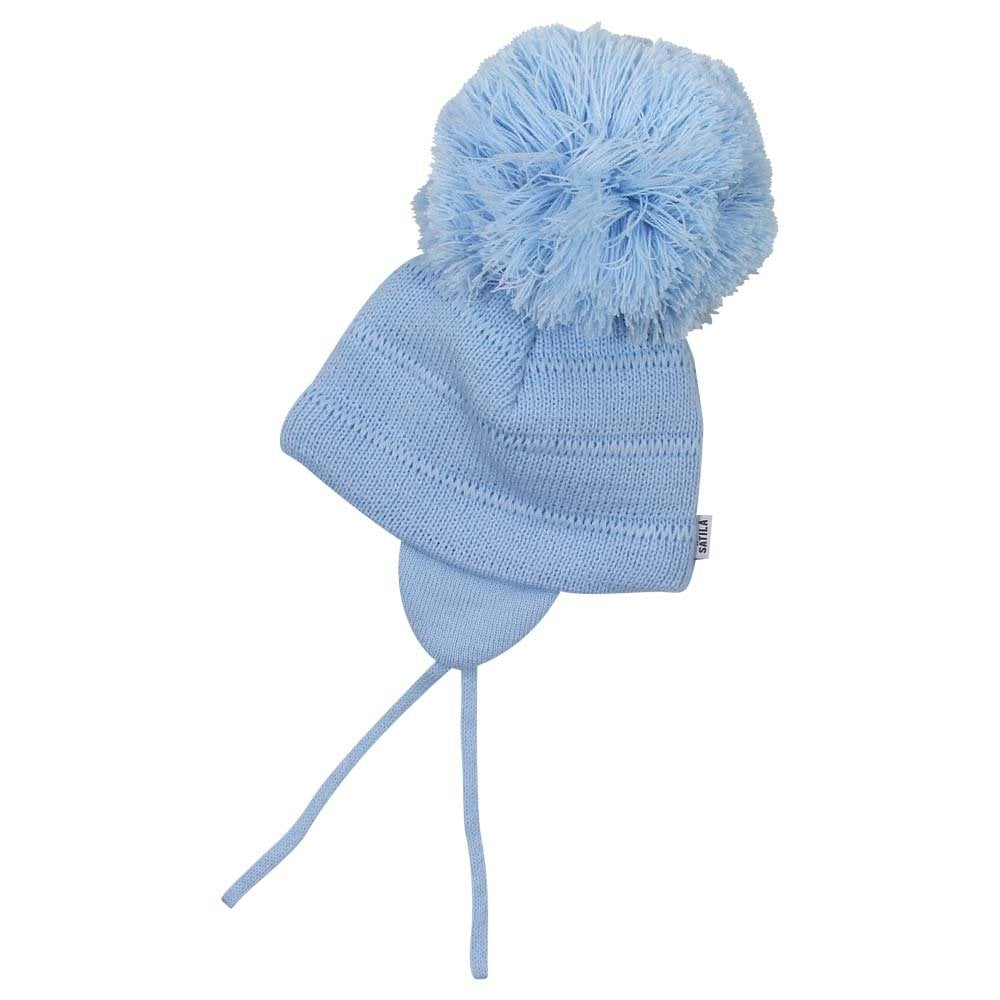 satila tuva pale blue pompom hat