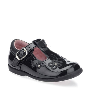 startrite sunflower black patent shoes