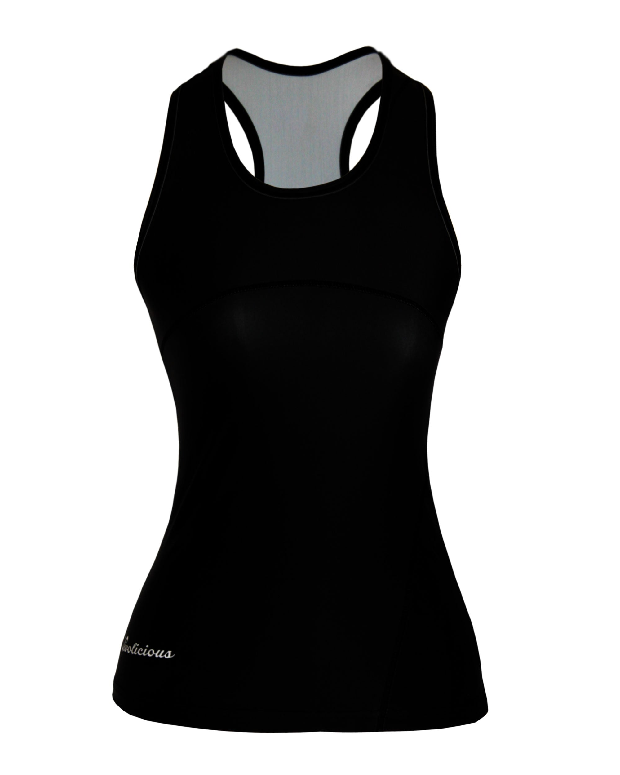 BASIC BLACK Tech Racer Back VIVOLICIOUS Women's Active Wear Tops