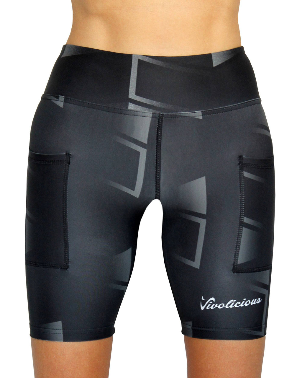 CLUB BLACK Tech Shorts VIVOLICIOUS Activewear