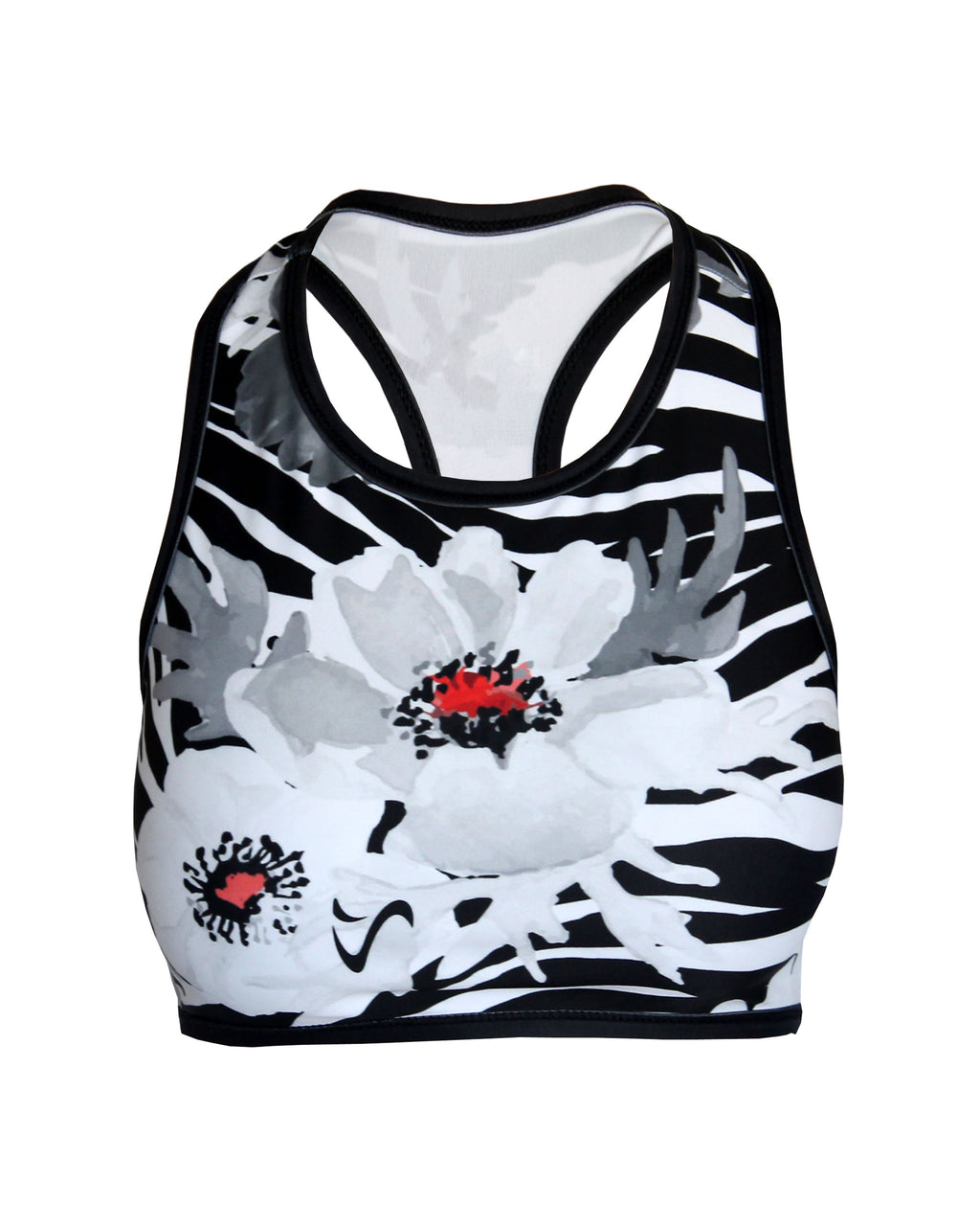Vivolicious WILD POPPY Interval Split Training Bra