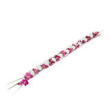 Fuchsia Phalaenopsis & Grass T-Light Log 10 candles