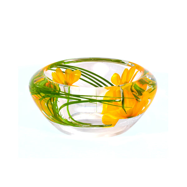 Yellow Cosmos Flower Bowl