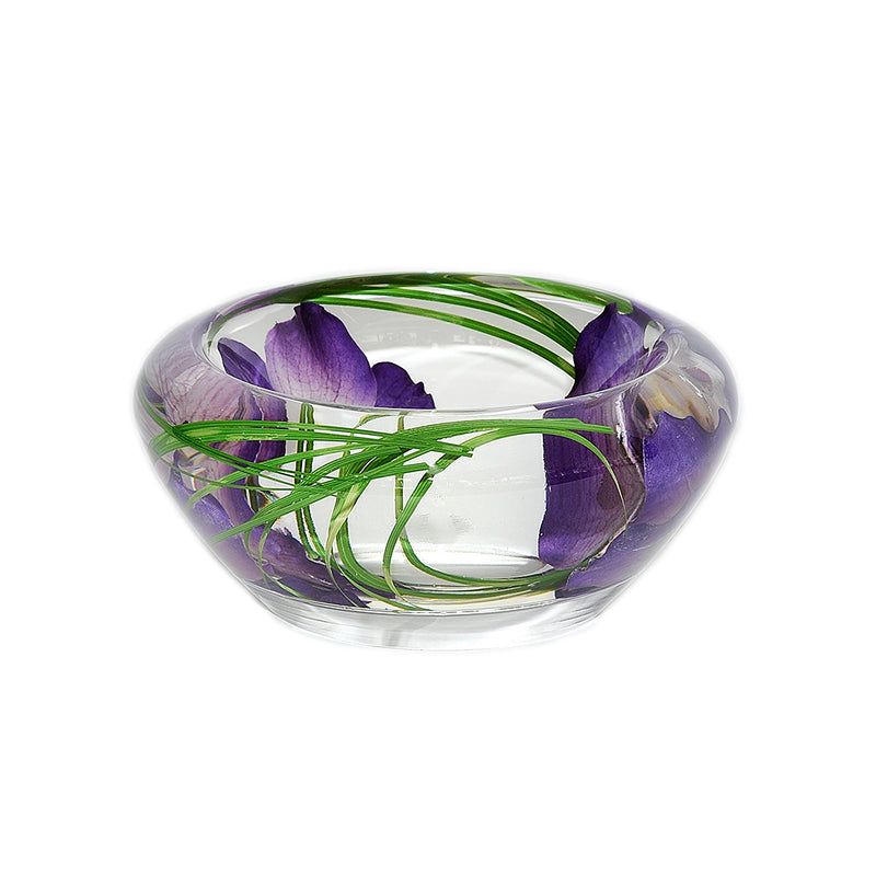 Purple Vanda Flower Bowl