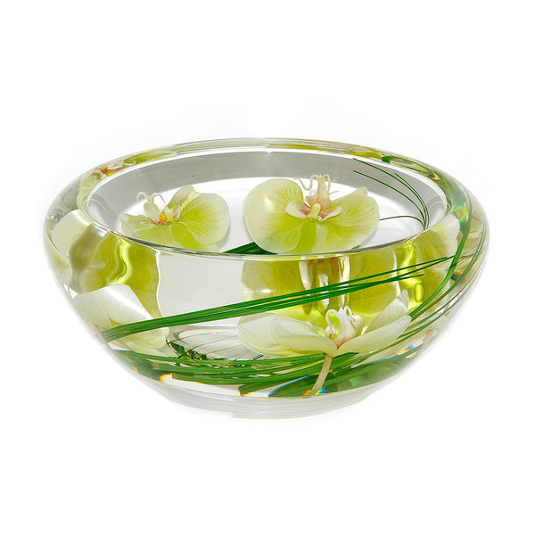 Green Phalaenopsis Flower Bowl