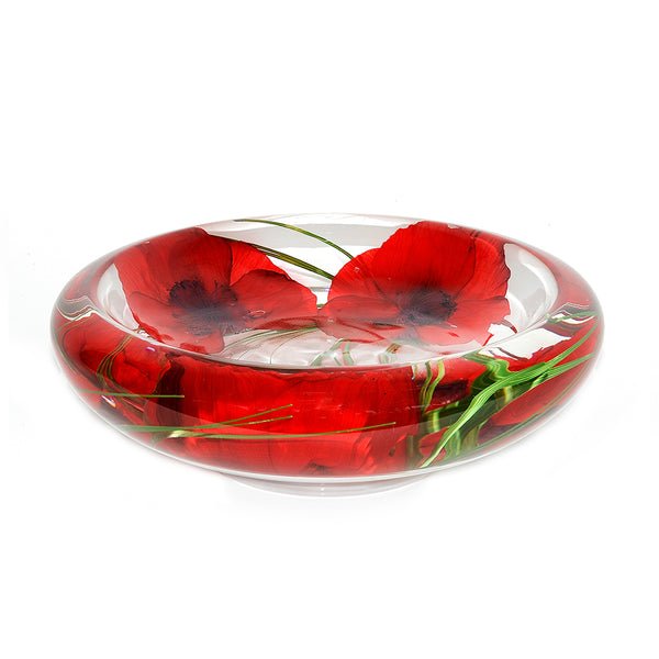 Red Poppy Flower Bowl