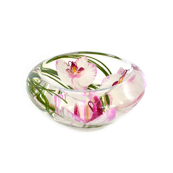 Pink/White Phalaenopsis Flower Bowl