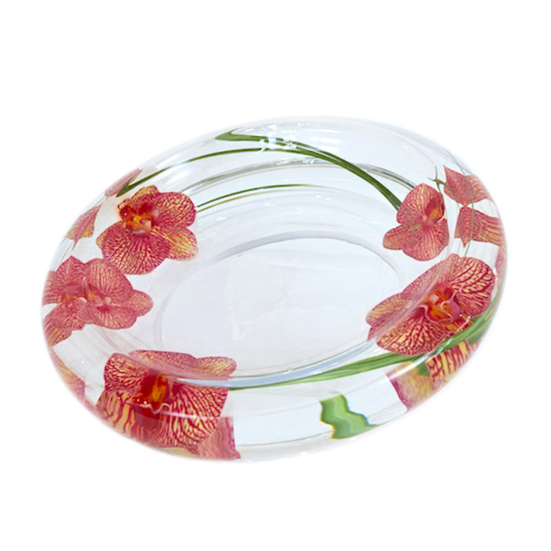 Pink/Yellow Spotted Phalaenopsis Flower Bowl