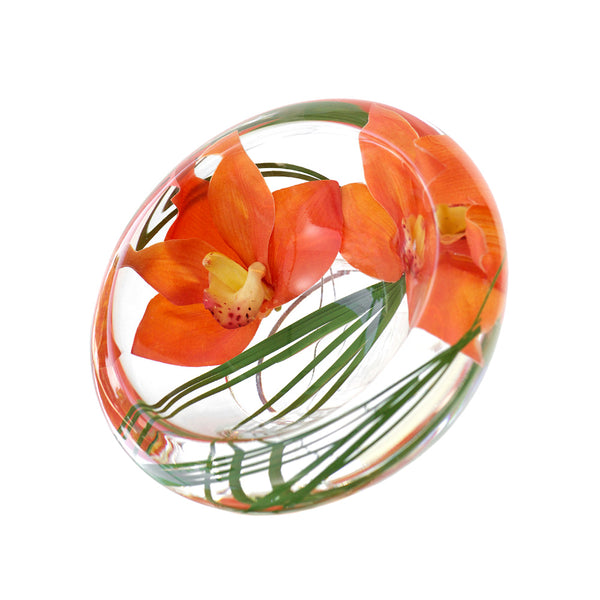 Orange Cymbidium Flower Bowl