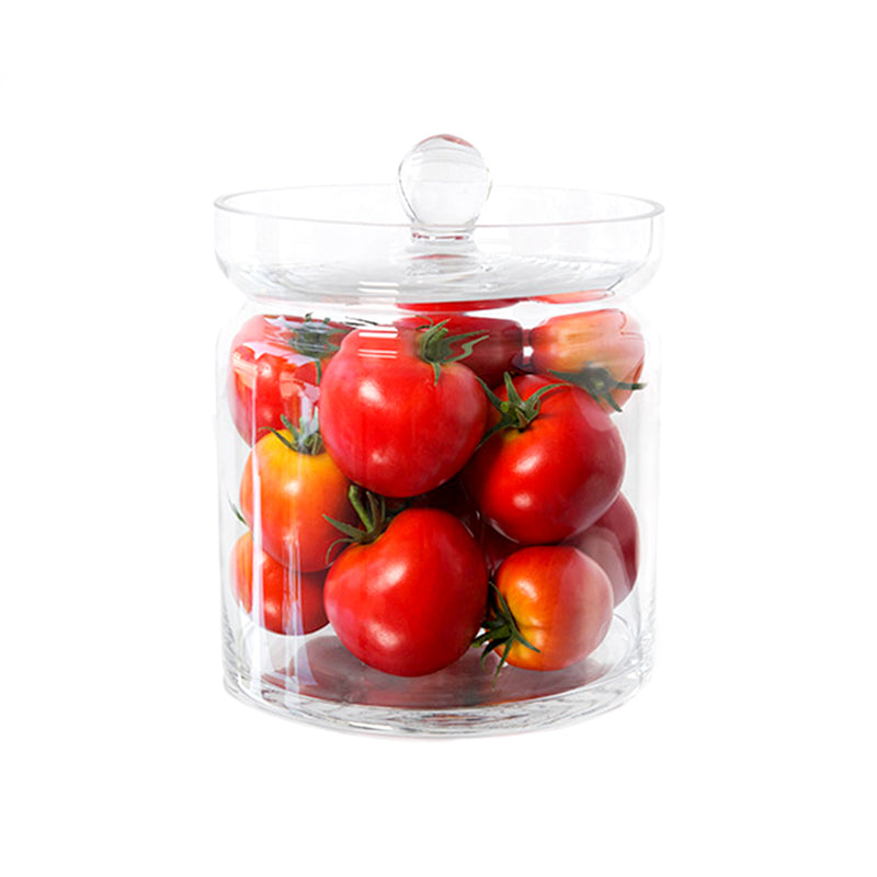 "Red Tomatoes 8""H Glass Canisters"