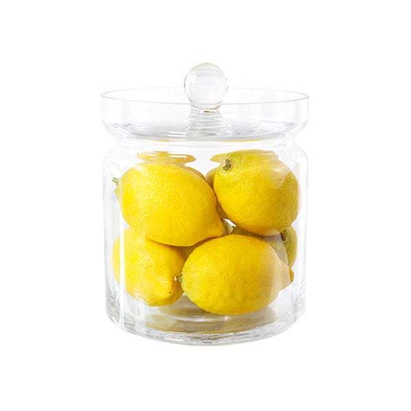 "Whole Lemons 8""H Glass Canisters"