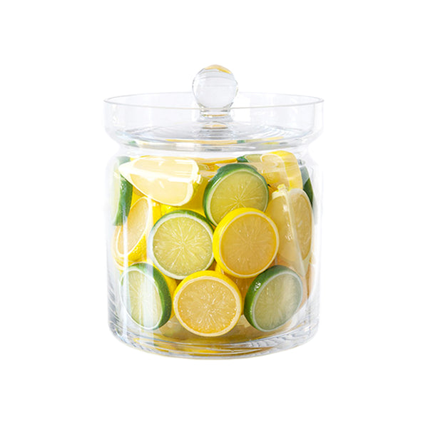 "Lemon & Lime Slices 8""H Glass Canisters"