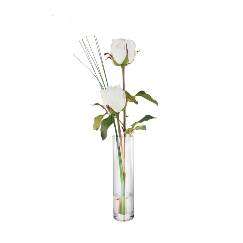 White Rose Bud Vase
