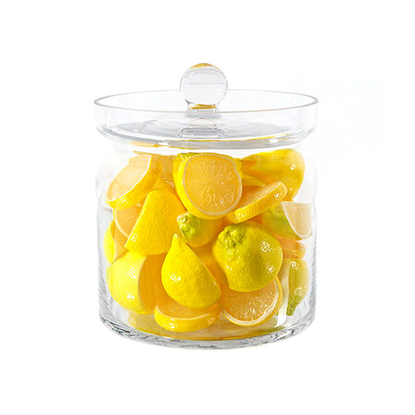 "Lemon Slices 8""H Glass Canister"