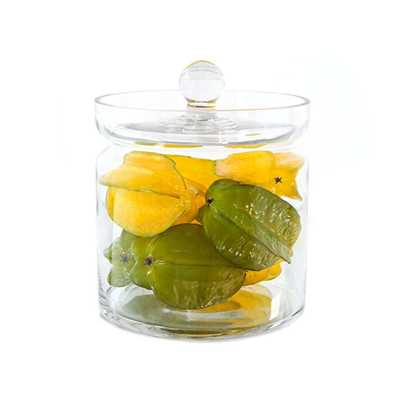"Star Fruits 8""H Glass Canister"
