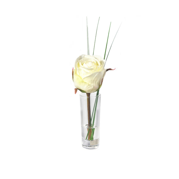 White Rose Cordial Vase