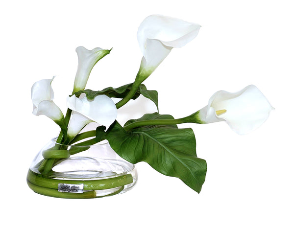 White Calla Lily MD Reverse Bowl