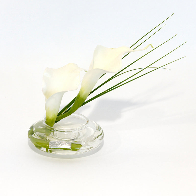 White Calla Lily & Grass Bloom Vase