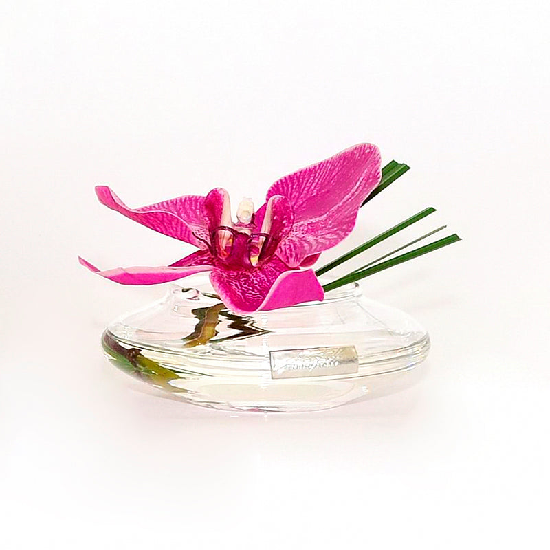 Fuchsia Phalaenopsis & Grass Bloom Vase