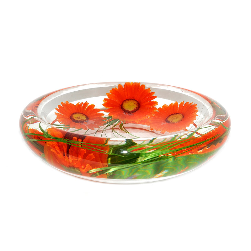 Orange Daisy Flower Bowl