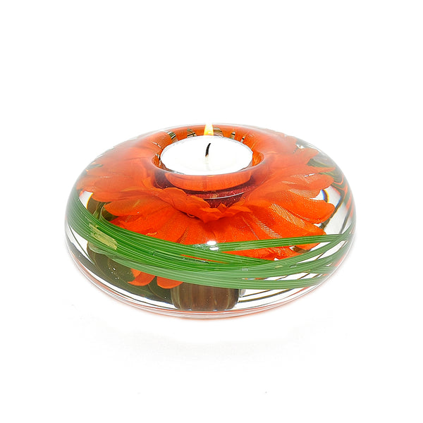 Orange Daisy T-Light