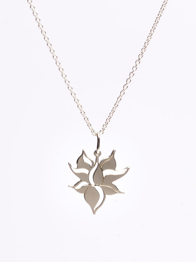 Lotus Flower Necklace. Gold / Silver