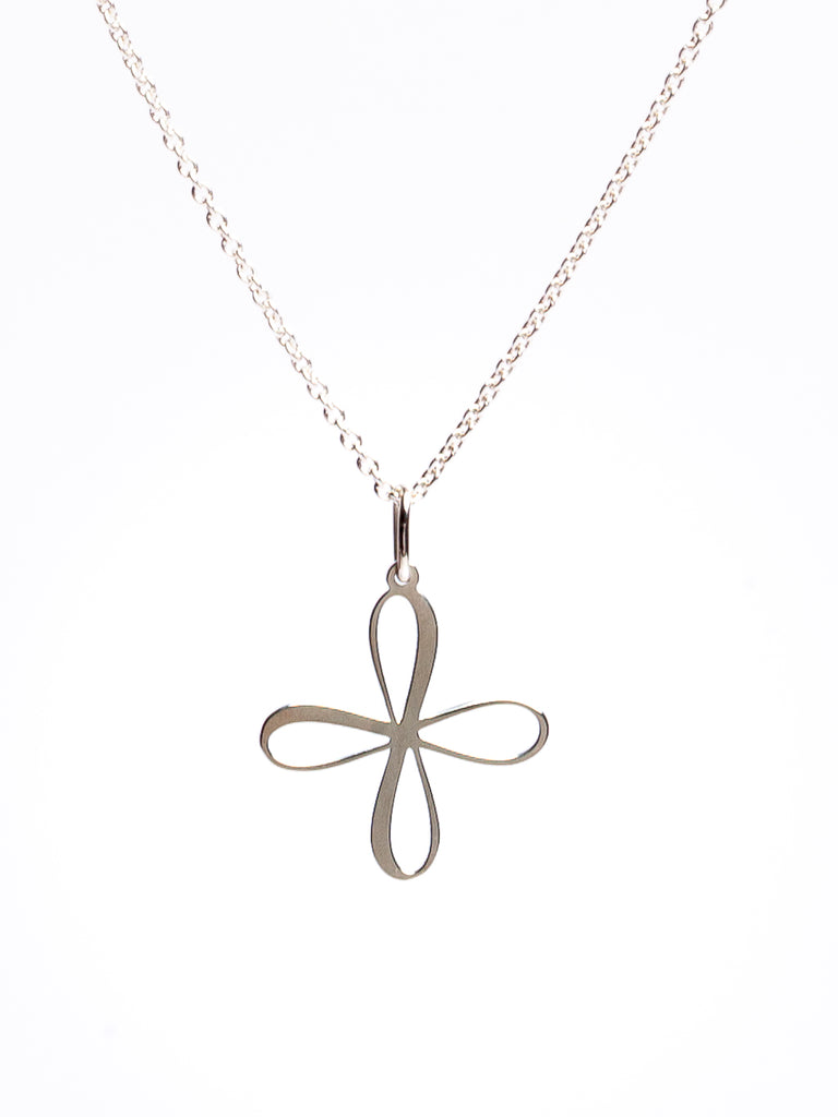 Trinity Cross Necklace. Gold / Silver.