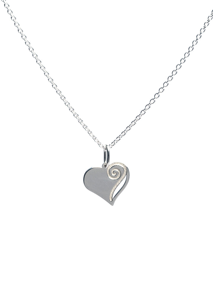 Healing Heart Necklace (Small). Gold / Silver