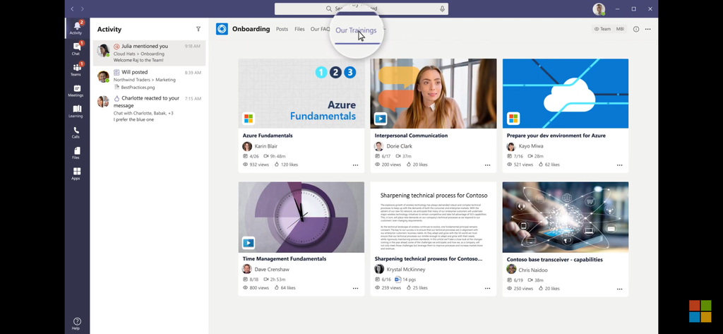 Introducing micro learning on the fly with Microsoft Teams Learning app