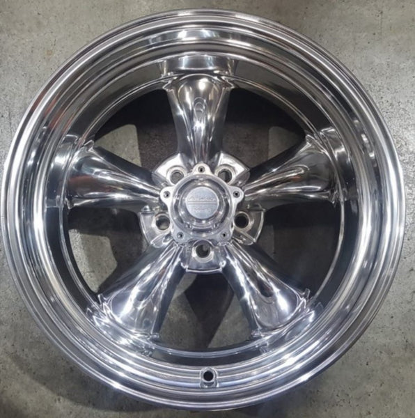 American Racing Torq Thrust II 17x8 8p offset 5/114.3 Full Polished suit Ford