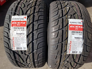 2 x 295/50R15 108H Kumho Brand New Tyres top quality high performance