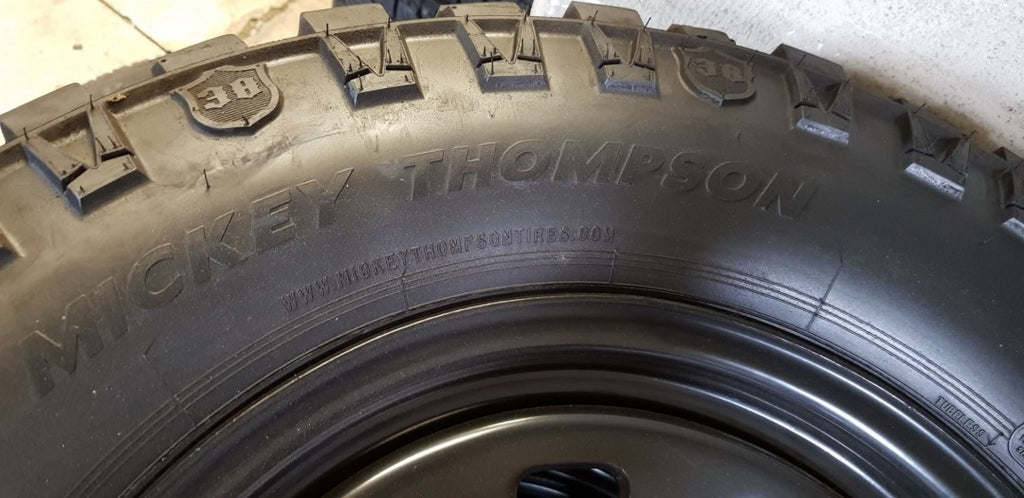 4 x 305x65R17 Mickey Thompson DEEGAN 38 121Q used tyres 14mm tread 33/12.5r17