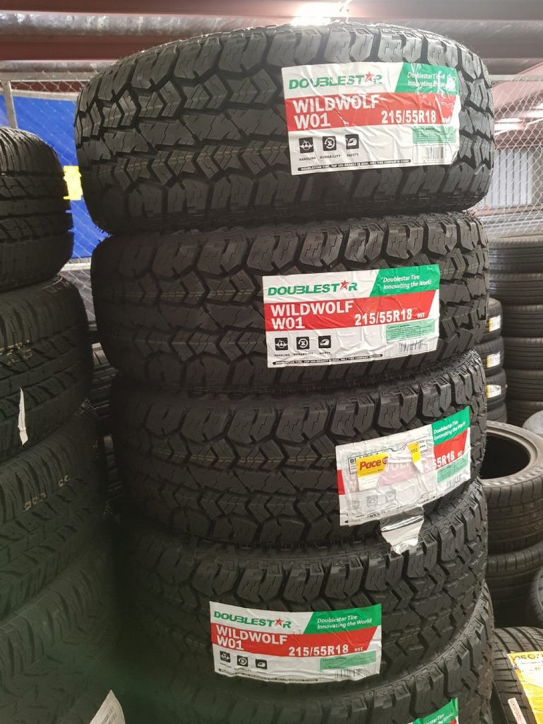 "4 x 215/55R18 95T Wildwolf W01 All terrain A/T new 18"" tyres great for Hiace"