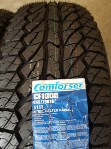 2 x Comforsa A/T 255/70R16 111H New Tyres fitting in buynow CLEARANCE