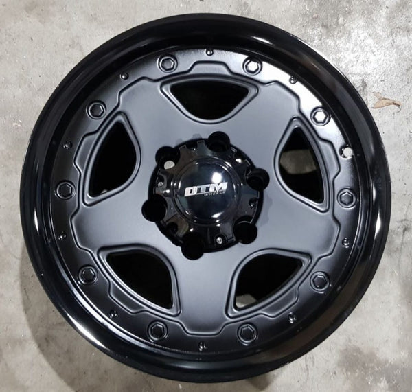 4x DTM Watto 16x8 6/139.7 -10 offset Black great for Toyota Landcrusier Hilux