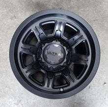 Load image into Gallery viewer, Ultra Menace 15x10 6/139.7 Neg 44 offset Satin Black 106mm CB Great for Hilux