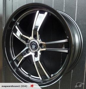 Konig Airstrike 19x8 5/114.3 45p Black mag wheels 4 mags perfect for Mazda 6