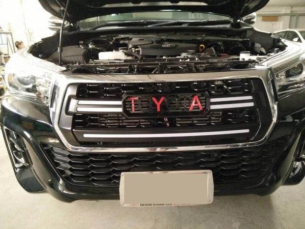 2018 Hilux grill Rocco black with LED great looking grill suitable for Toyota